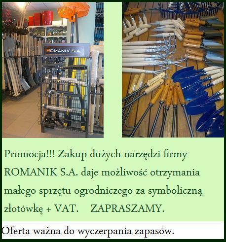 Narzędzia ogrodnicze ROMANIK S.A.